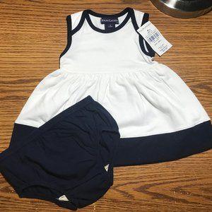 Ralph Lauren white summer dress 3-6 mos NWT
